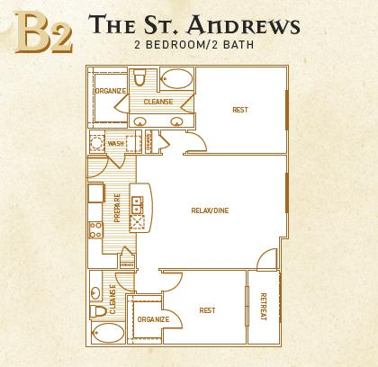 1,276 sq. ft. B2 floor plan