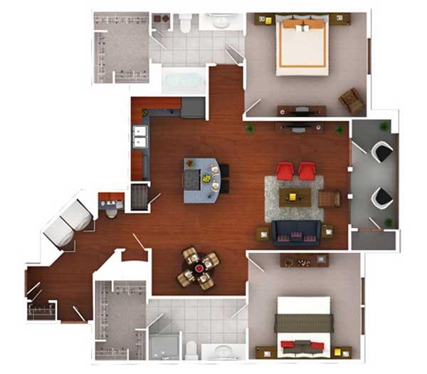1,266 sq. ft. Bg4.2 floor plan