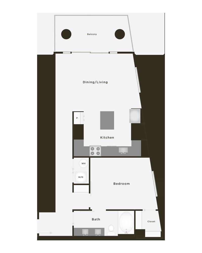 847 sq. ft. Epic floor plan