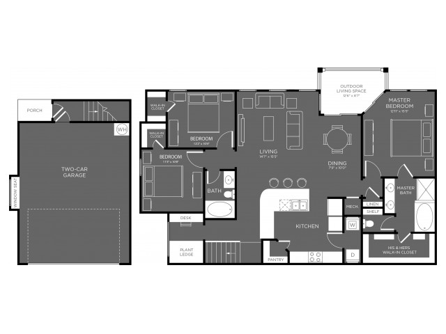 1,579 sq. ft. Yellowstone floor plan