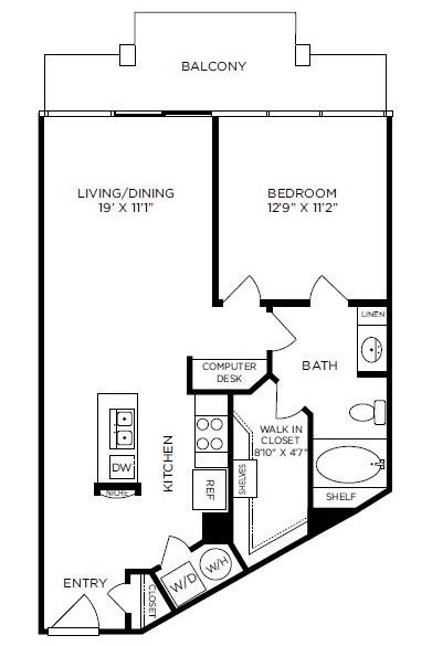 779 sq. ft. to 850 sq. ft. Regent floor plan