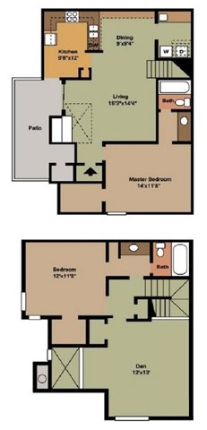 1,380 sq. ft. C1 floor plan
