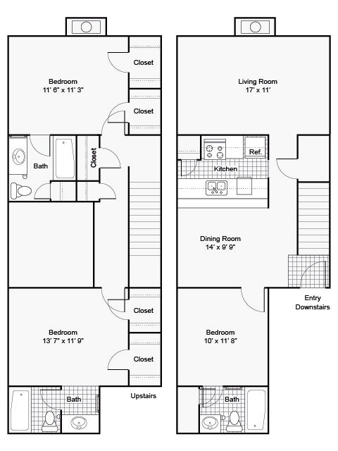 1,450 sq. ft. II F-4 floor plan