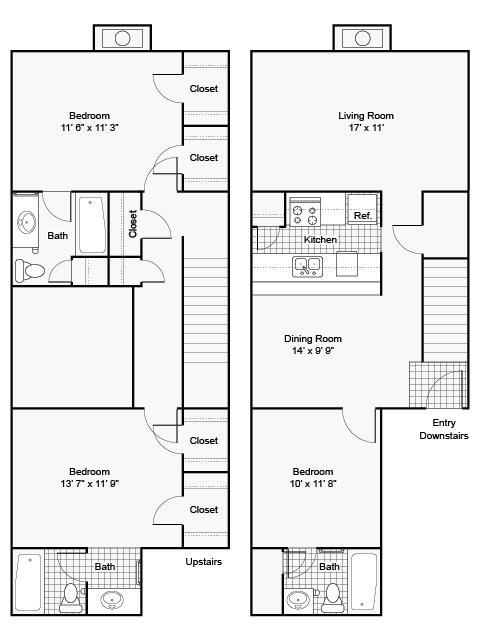 1,450 sq. ft. II F-4 floor plan