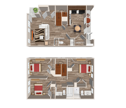 1,159 sq. ft. A6/30% floor plan