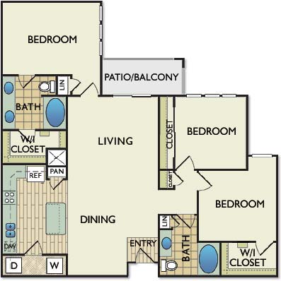 1,393 sq. ft. REMBRANDT floor plan