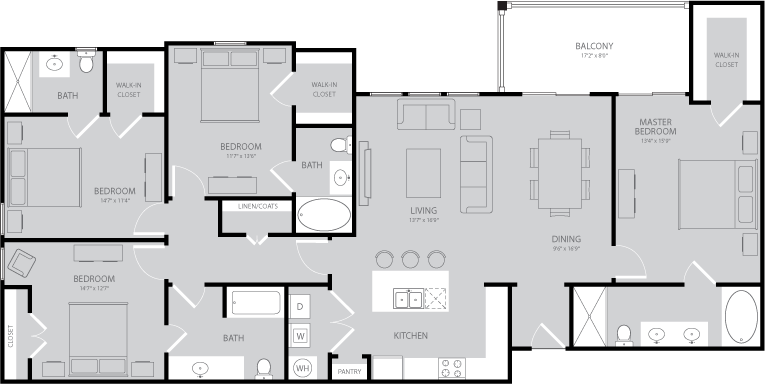 1,850 sq. ft. Twain floor plan