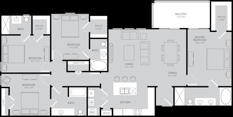 1,850 sq. ft. Twain floor plan