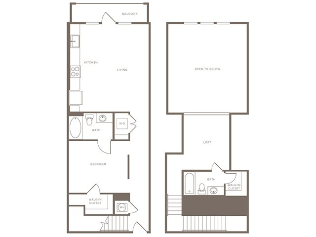 1,053 sq. ft. B8L floor plan