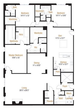 3,288 sq. ft. 33 floor plan