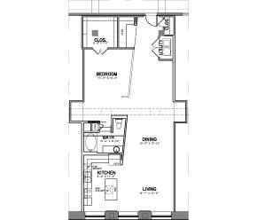 1,268 sq. ft. A17 floor plan