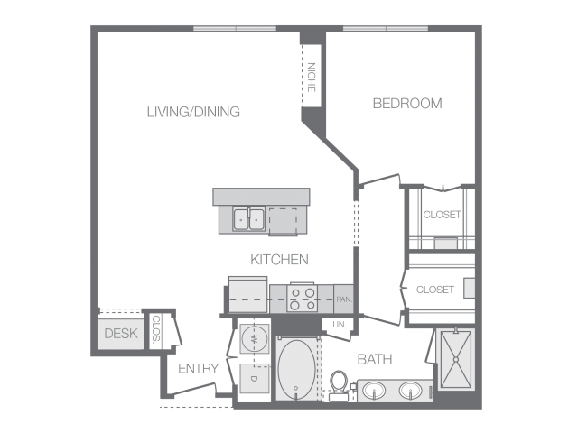 917 sq. ft. to 981 sq. ft. G floor plan