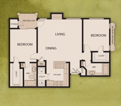 1,037 sq. ft. B3/PO floor plan