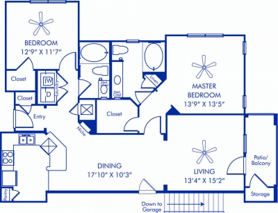 1,181 sq. ft. to 1,235 sq. ft. Alsace floor plan