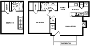1,038 sq. ft. Biltmore floor plan