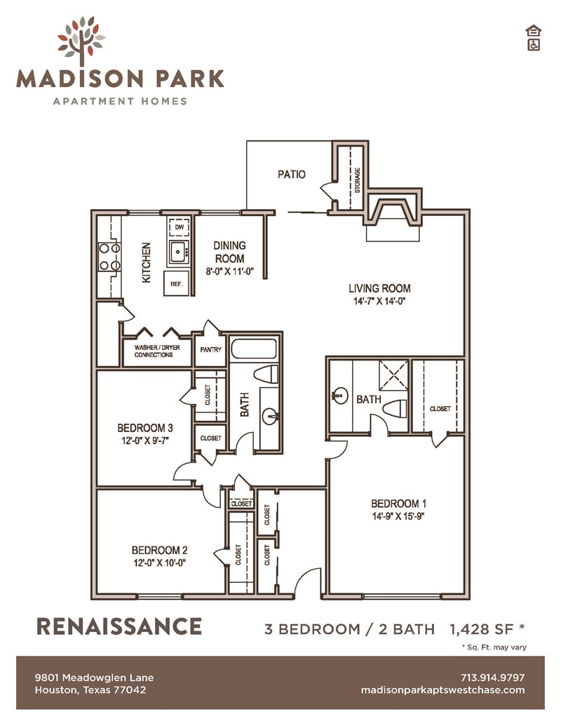 1,428 sq. ft. VILLA floor plan