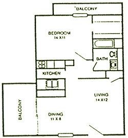700 sq. ft. Magnolia floor plan