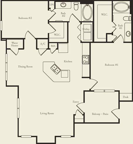 1,179 sq. ft. B3 floor plan