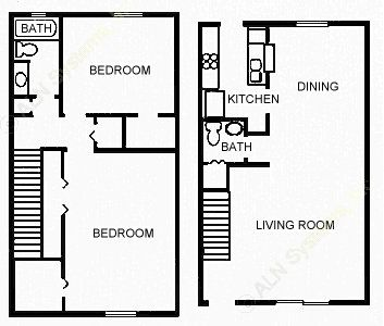 1,200 sq. ft. GRANDE floor plan