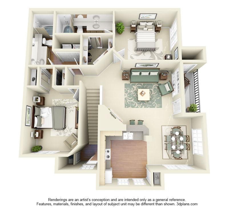 1,147 sq. ft. Eagle Mountain floor plan