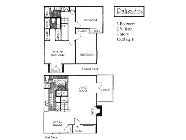 1,520 sq. ft. C2 floor plan