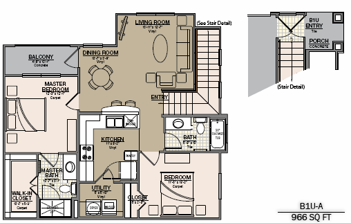 1,066 sq. ft. B5 floor plan