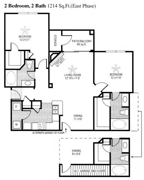 1,130 sq. ft. to 1,214 sq. ft. H floor plan