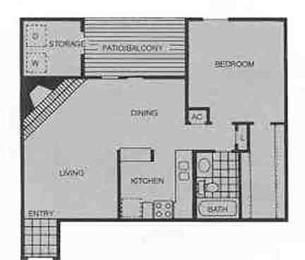 797 sq. ft. B floor plan