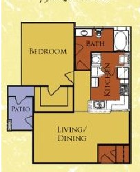 750 sq. ft. 60%/Sterling floor plan