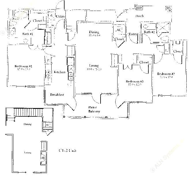 1,497 sq. ft. C1/Gar floor plan