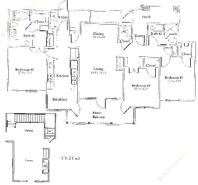 1,497 sq. ft. C1/Gar floor plan