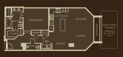 1,161 sq. ft. A7 floor plan