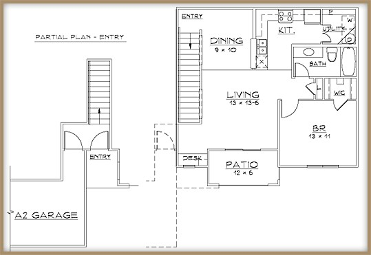 853 sq. ft. A2/60% floor plan