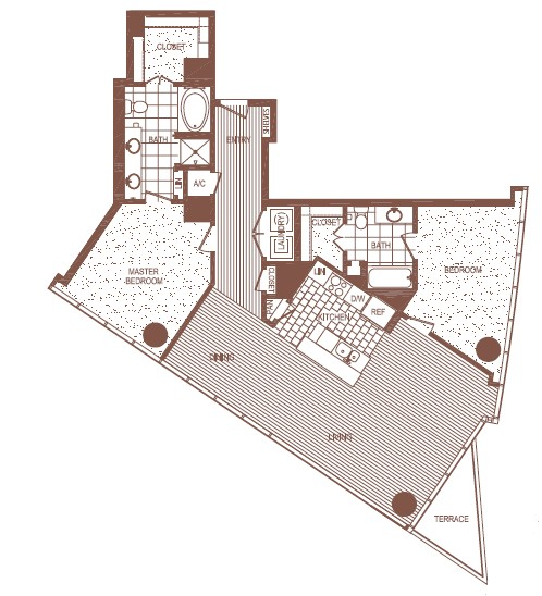 1,434 sq. ft. PH 6 floor plan
