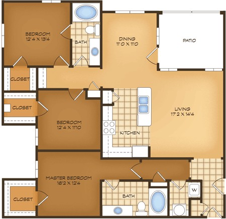 1,529 sq. ft. C1G Napoli Vistas floor plan