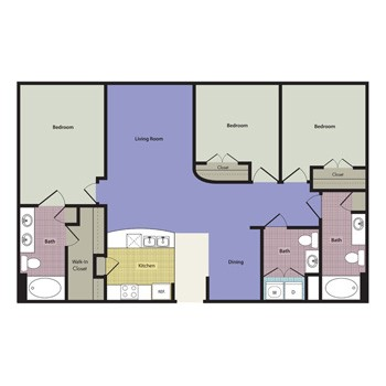 1,371 sq. ft. to 1,385 sq. ft. Vasto floor plan
