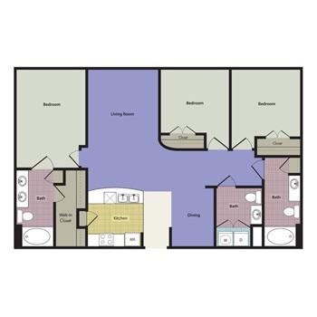 1,371 sq. ft. to 1,385 sq. ft. Vasto floor plan