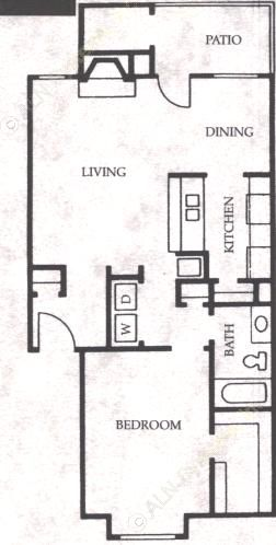 758 sq. ft. Colt floor plan