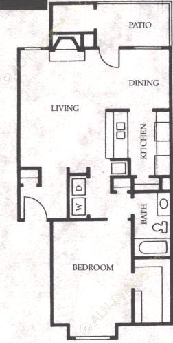 758 sq. ft. Colt floor plan