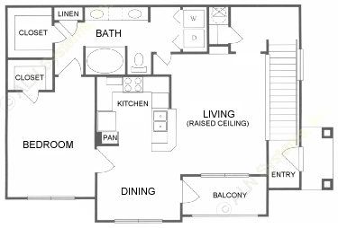 839 sq. ft. A floor plan