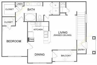 839 sq. ft. A floor plan