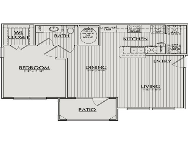 751 sq. ft. Griffin floor plan
