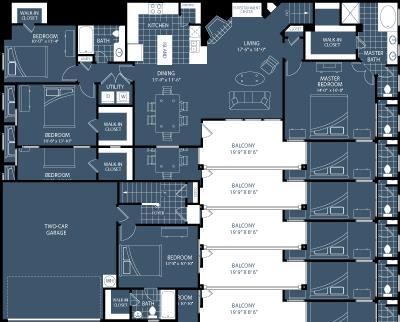 1,910 sq. ft. D1 floor plan