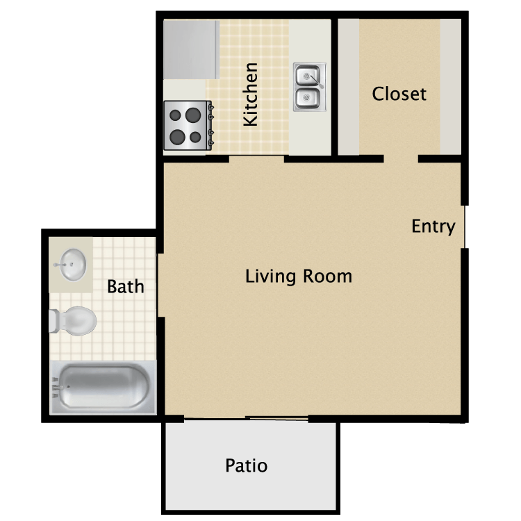 300 sq. ft. A floor plan