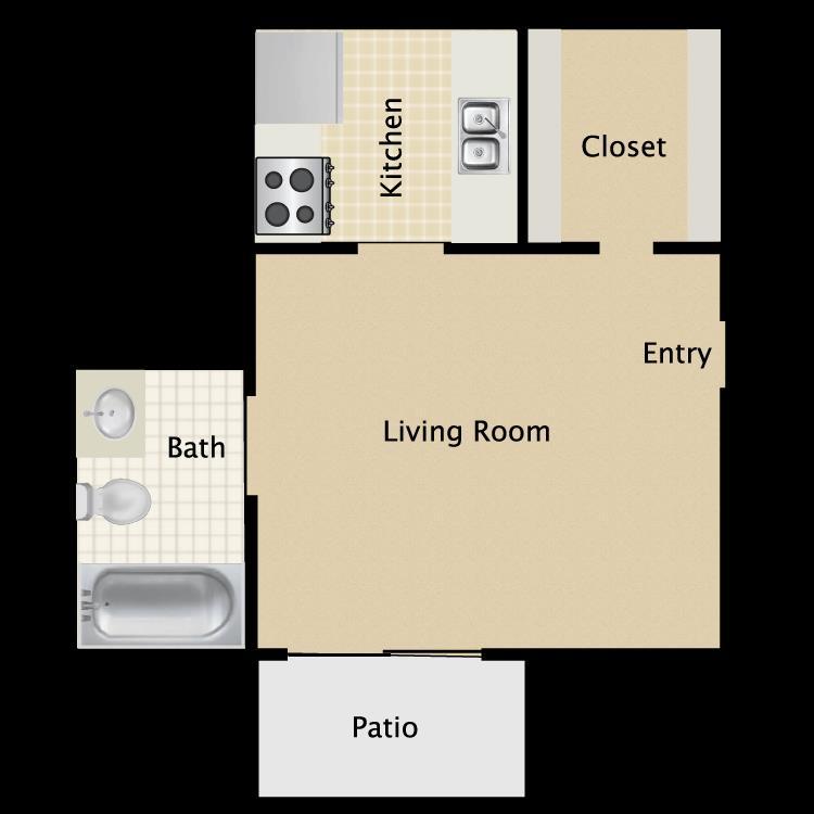 300 sq. ft. A floor plan