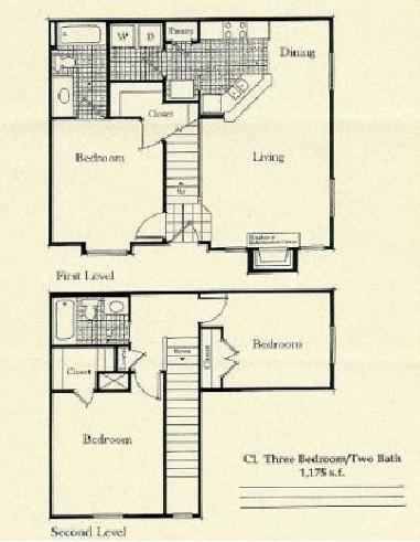 1,175 sq. ft. C1/60% floor plan