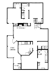 1,400 sq. ft. C1 floor plan