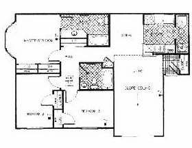 1,135 sq. ft. Fountaine floor plan
