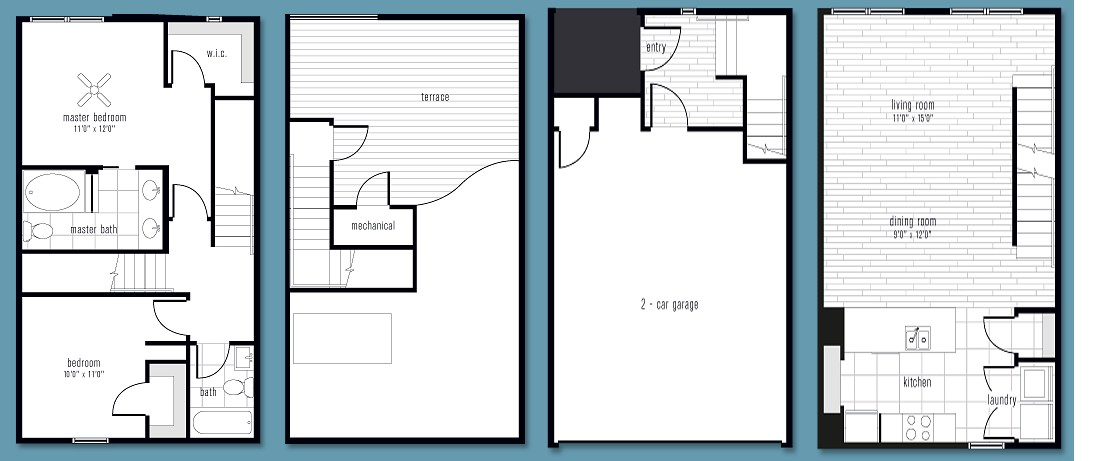 1,366 sq. ft. BB floor plan