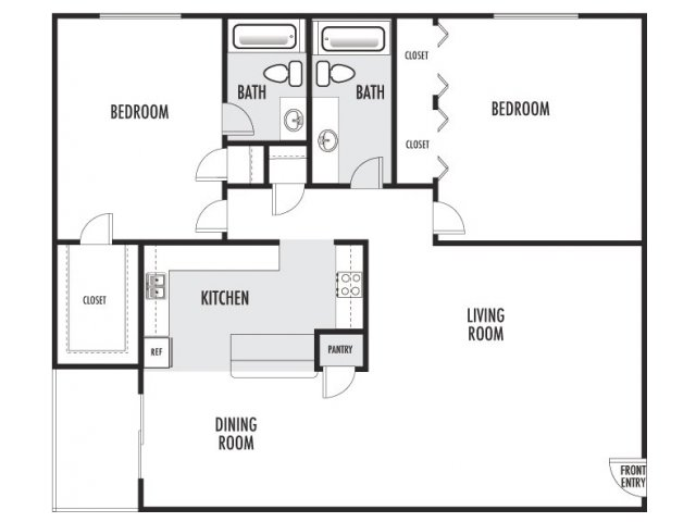 1,154 sq. ft. I-I2 floor plan
